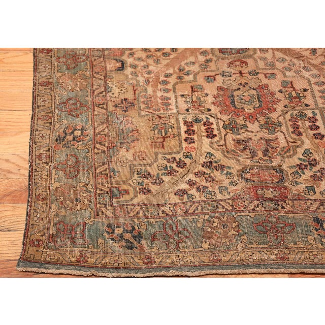 17th Century 17th Century Small Size Persian Khorassan Rug For Sale - Image 5 of 13