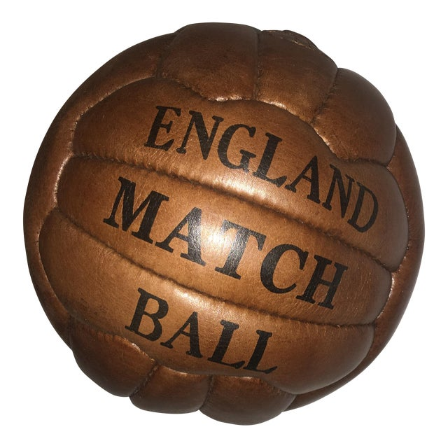 English Soccer Match Leather Ball - Image 1 of 9