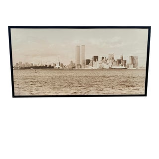 1970s Cityscape of Lower Manhattan Photograph, Framed For Sale