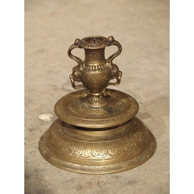 19th Century Pair of Antique French Renaissance Style Bronze Candlesticks, 19th Century For Sale - Image 5 of 13