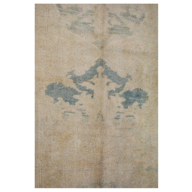 Turkish Vintage Turkish Oushak Rug - 4′10″ × 11′9″ For Sale - Image 3 of 4