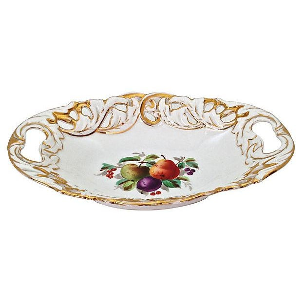 Antique Gilded Bowl With Handles - Image 1 of 6