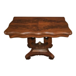 19th Century American Empire Game Table Console Table For Sale