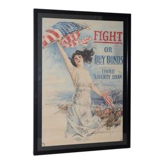 "Howard Chandler Christy ""Fight or Buy Bonds"" World War I Propaganda Poster C.1917"