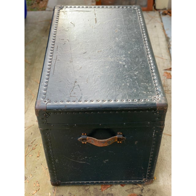 Vintage trunk. Army stamp included. Makes a great coffee table!