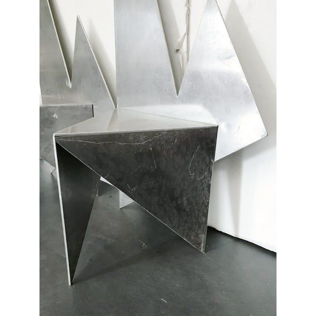 Silver Vintage Space Age Chairs - a Pair For Sale - Image 8 of 13