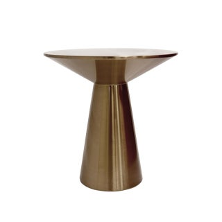 Pasargad Home Lorenzo Collection Stainless Steel Side Table For Sale