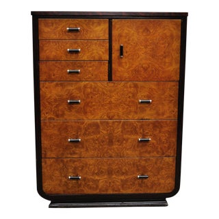 Norman Bel Geddes for Simmons Art Deco Mahogany Painted Steel Metal Dresser For Sale