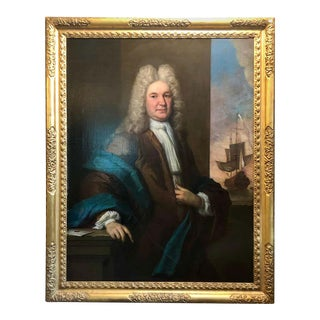 19th Century Fine Antique Portrait of a Gentleman Oil on Canvas For Sale