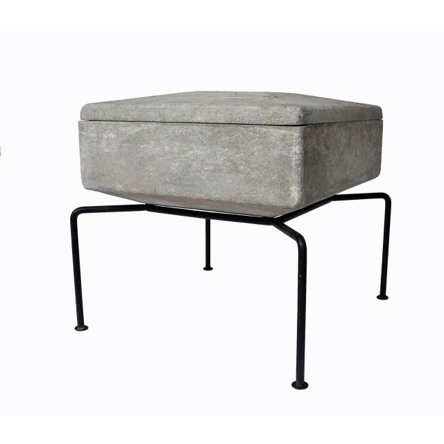 Outdoor architectural fiber concrete planter from Swiss designer Bruno Rey for Eternit AG 1954 . Four jardinaires...
