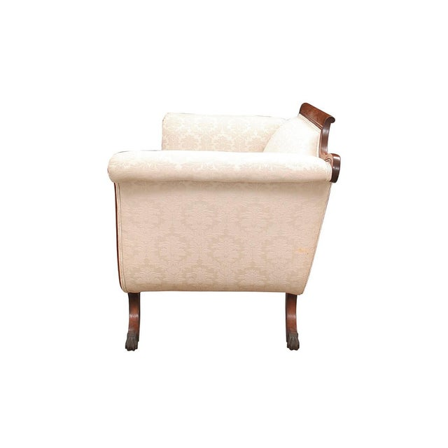 Empire 1940s Vintage Empire Style Loveseat For Sale - Image 3 of 6