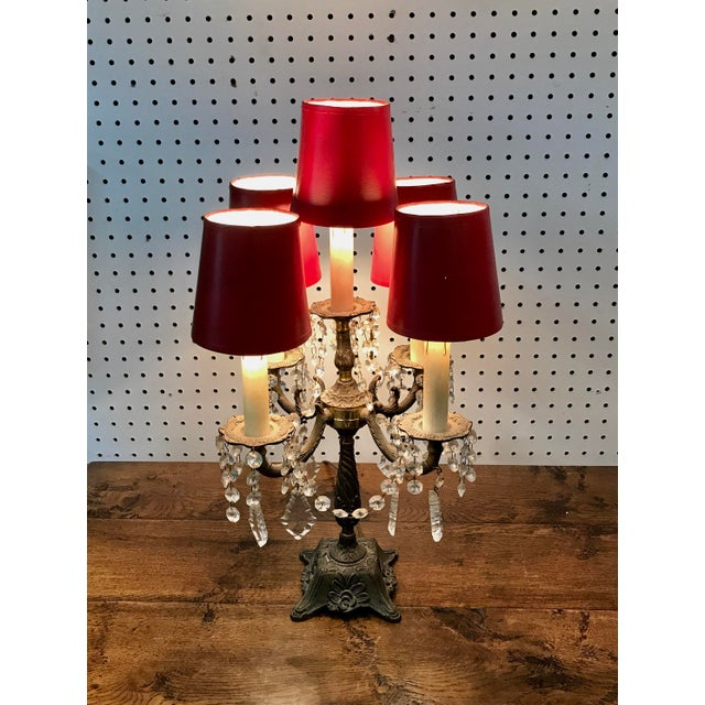 Empire Vintage French Table Top Chandelier For Sale - Image 3 of 11