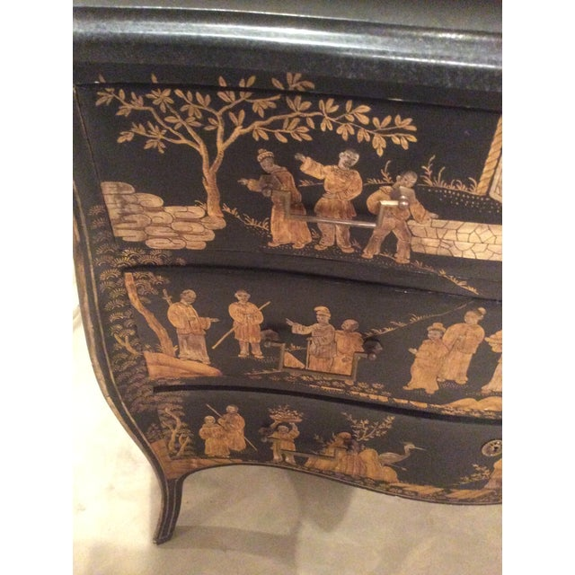 1960s Chinoiserie Marble Top Chest For Sale - Image 5 of 7