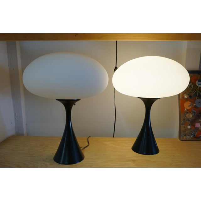"1960s Laurel ""Mushroom"" Table Lamps - a Pair For Sale - Image 5 of 6"