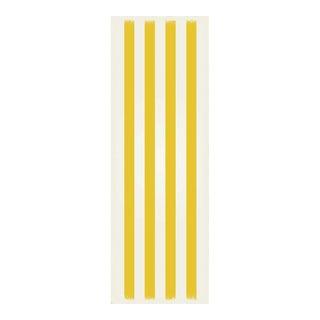 Yellow & White Striped Rug - 2' X 6'