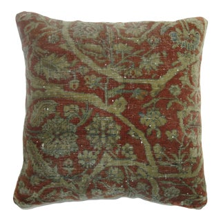 Shabby 19th Century Kashan Pillow For Sale