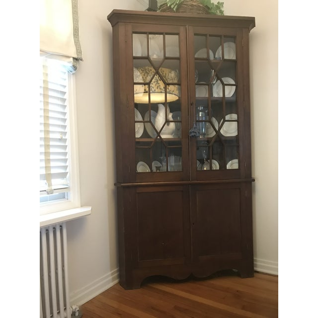 Antique Corner China Cupboard For Sale - Image 10 of 10