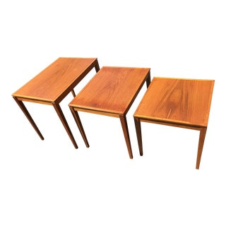 1970s Danish Modern Teak Nesting Tables - 3 Pieces For Sale