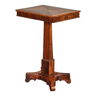 19th C. English Inlaid Palisander Game Table For Sale