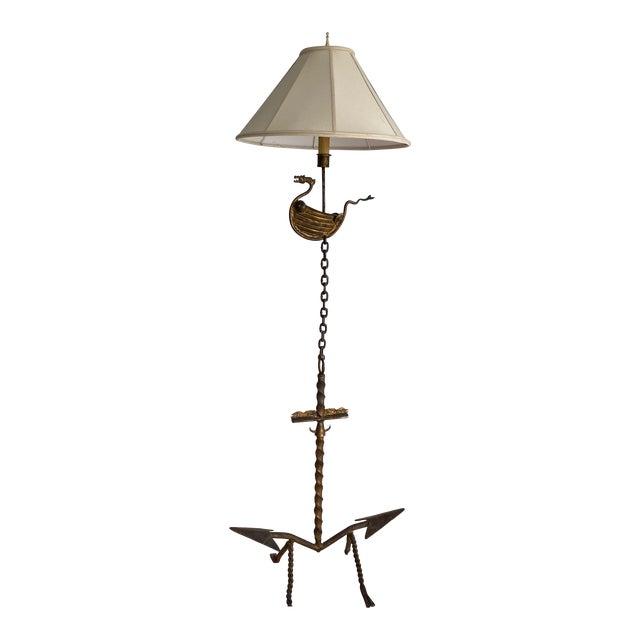 "1960s Studio Created ""Viking"" Floor Lamp For Sale"