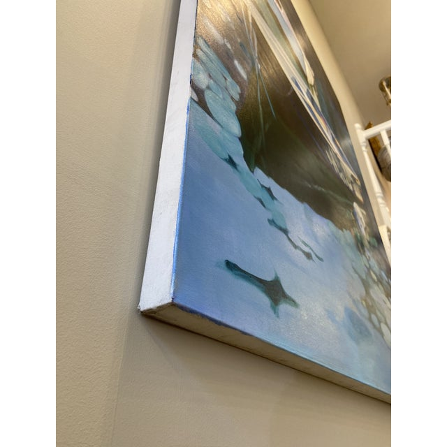 Contemporary Nautical Oil Painting by Andrea Guay For Sale - Image 4 of 7