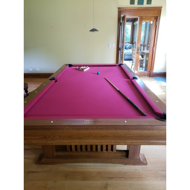 Mother-of-Pearl Brunswick Centennial Craftsman Pool Table For Sale - Image 7 of 8
