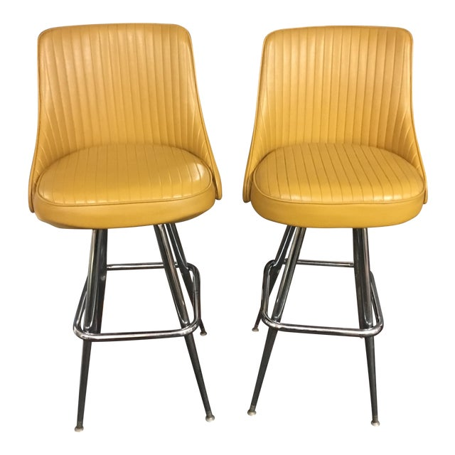 1969 Chromcraft Swivel Bar Stools - a Pair - Image 1 of 7