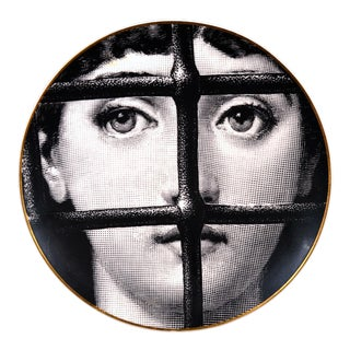 Mid-Century Modern Piero Fornasetti Rosenthal Themes & Variations Plate, Motiv 22, 1980s For Sale