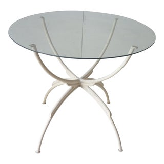 20th Century Contemporary Spider Form Metal Side Table For Sale