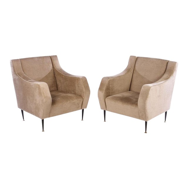 Mid Century Vintage Italian Lounge Chairs- a Pair For Sale