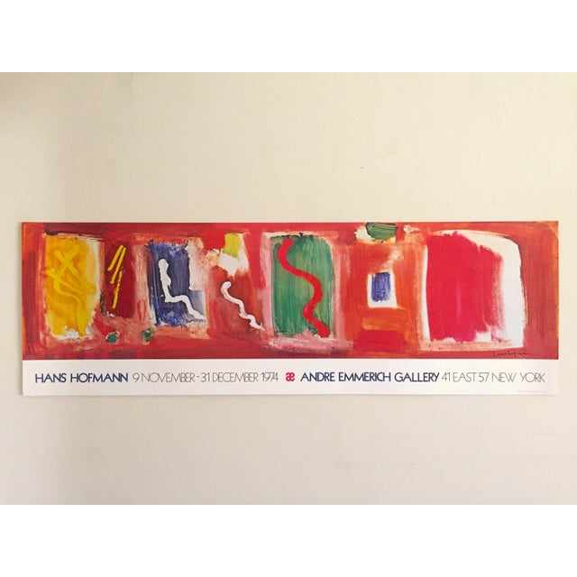 Blue Hans Hofmann Vintage 1974 Abstract Expressionist Lithograph Print Exhibition Poster For Sale - Image 8 of 9