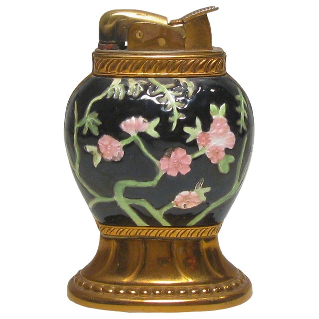 Colorful Chinoiserie Cloisonne Lighter For Sale