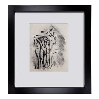 1970s Willem De Kooning Original Limited Edition Framed Lithograph Print For Sale
