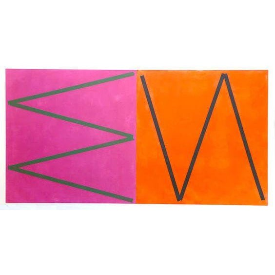 Orange & Pink Abstract by Joaquim Chancho - Image 1 of 4