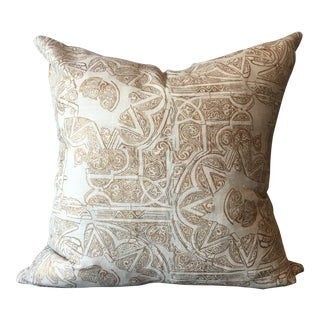 Tulu Textiles Timor Gold Pillow Cover For Sale