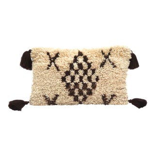 Boho ChicBerber Tribes of Morocco Large Beni Ourain Wool Pillow For Sale