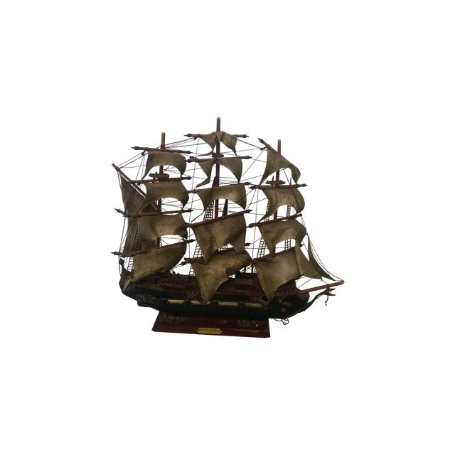 Vintage Tall Ship Model - Image 1 of 7