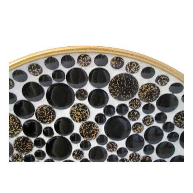 Mid-Century Black & Gold Mosaic Tile Bowl - Image 2 of 4
