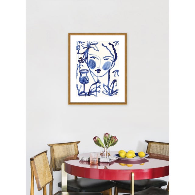 """Giclée on textured fine art paper with gold frame and 2"""" white mat. Unframed print dimensions: 19.5"""" x 25.5"""". Leslie..."""