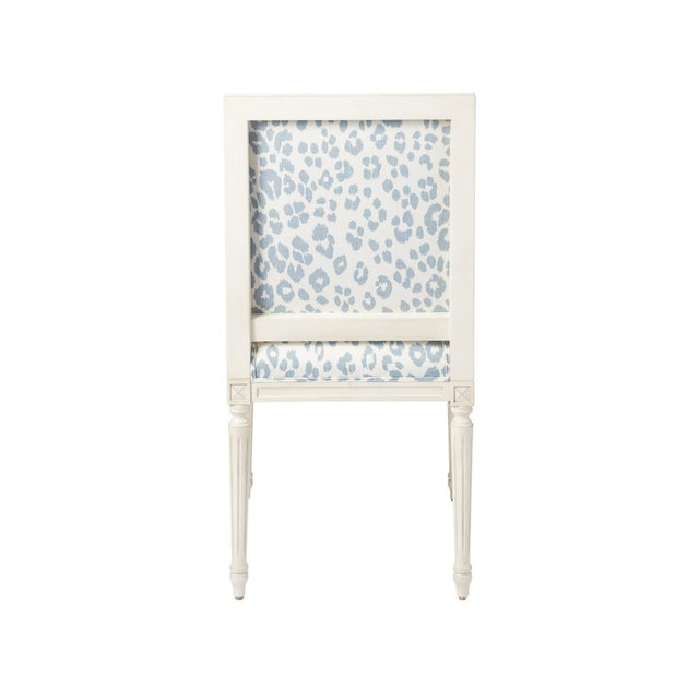 Contemporary Schumacher Marie Therese Iconic Leopard Blue Hand-Carved Beechwood Side Chair For Sale - Image 3 of 11