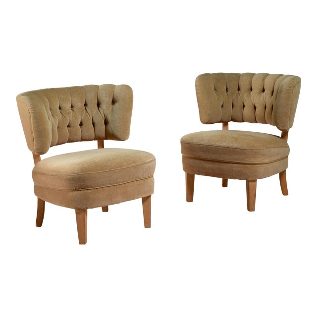 Otto Schulz Pair of Lounge Chairs by Jio Möbler, Sweden, 1940s - Image 1 of 4