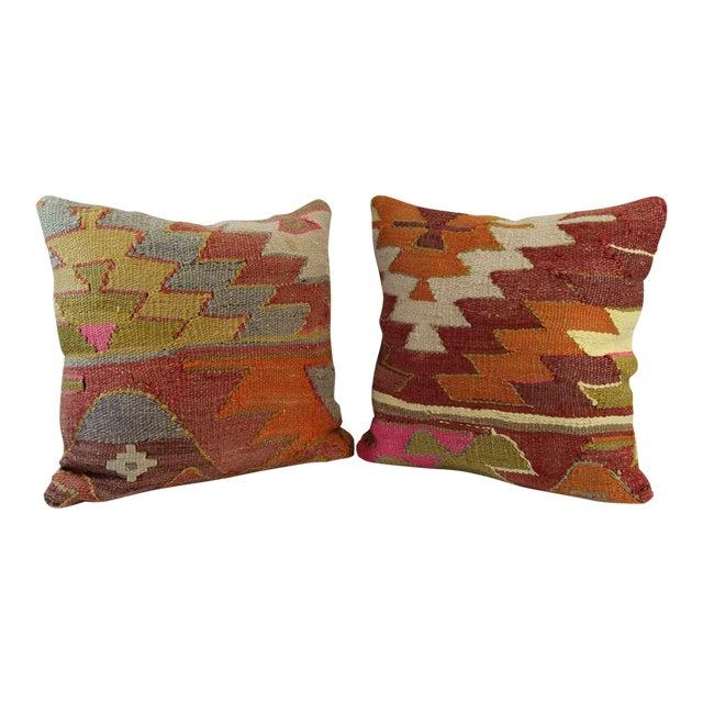 Turkish Kilim Pillow - A Pair - Image 1 of 7