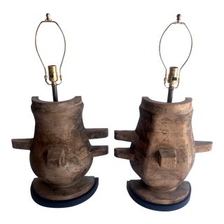 Custom Antique Foundry Mold Table Lamps - a Pair For Sale