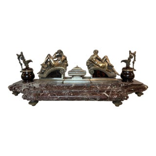 French Empire Bronze Inkwell For Sale