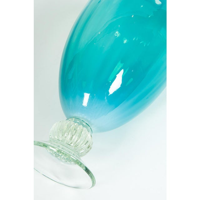Glass Mid-Century Modern Venetian Decorative Vase For Sale - Image 7 of 10