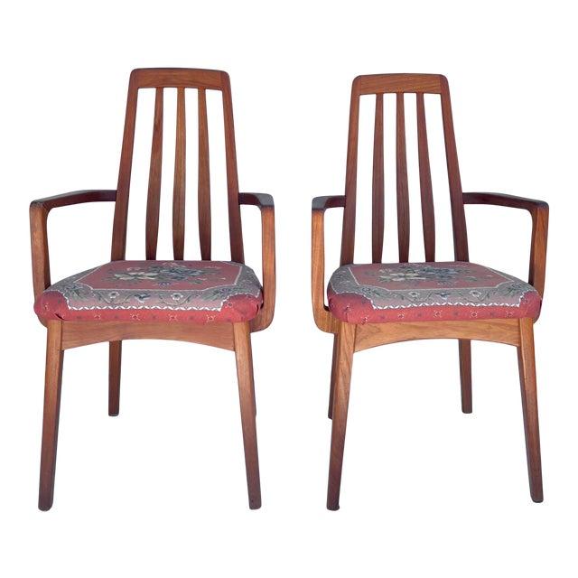 Vintage Modern Teak Arm Chairs- a Pair For Sale
