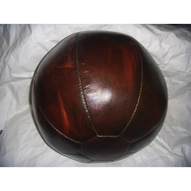 English 20 Lb. Leather Medicine Ball - Image 4 of 4