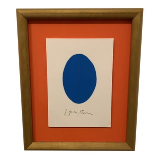 1970s Lucio Fontana Style Mixed Media Framed Painting For Sale