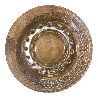 Traditional Pressed Glass Ashtray For Sale
