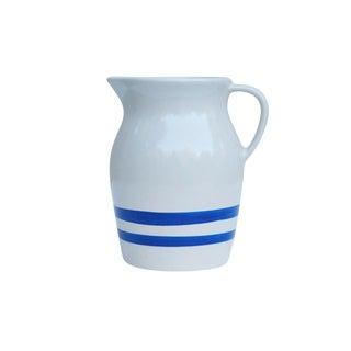Robinson Ransbottom Blue & White Stoneware Pitcher For Sale